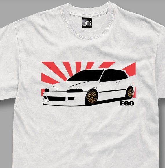 Tshirt for EG6 honda civic vtec fans t-shirt jdm white S  5XL | Etsy