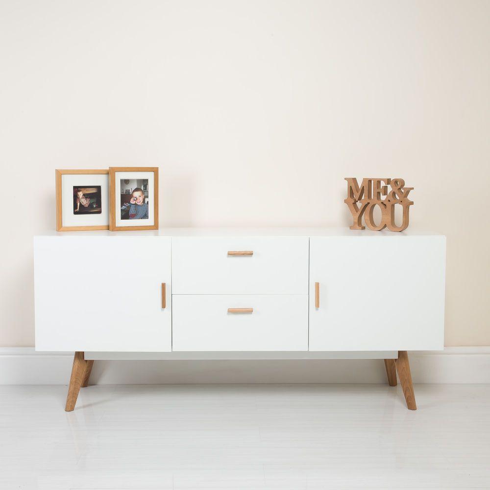 Charmant New White Scandinavian Retro Furniture TV Unit Cabinet Sideboard Solid Oak  Legs | Home, Furniture U0026 DIY, Furniture, Cabinets U0026 Cupboards | EBay!