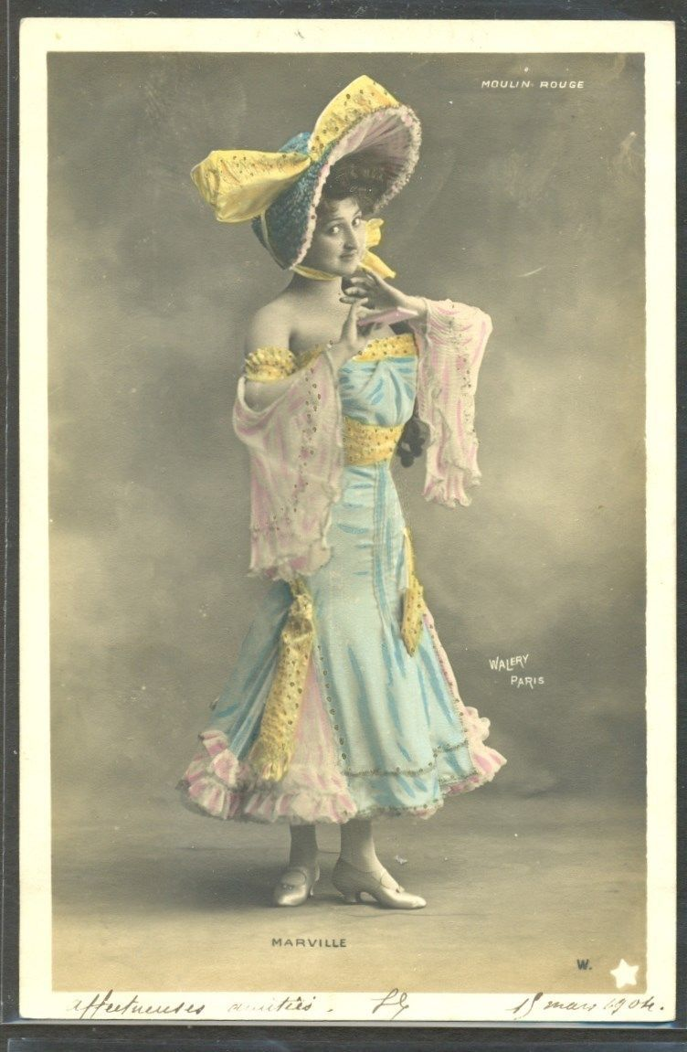 Artiste Stage Star Marville Moulin Rouge Photo D'Art Walery