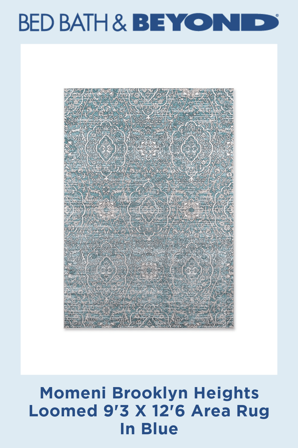 Momeni Brooklyn Heights Loomed 9'3 X 12'6 Area Rug In Blue