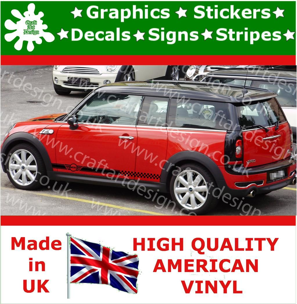HttpwwwebaycoukitmMiniCooperLargeSideRacingStripeKit - Custom vinyl car decals uk