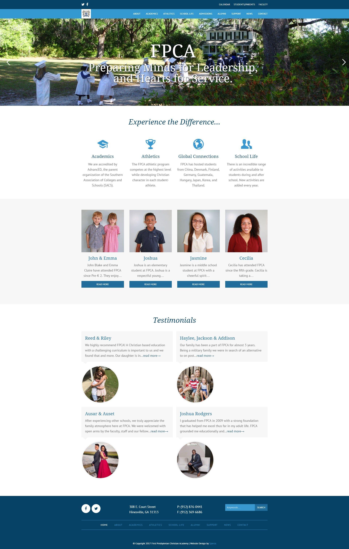 First Presbyterian Christian Academy Speros Savannah Ga Academy Web Design Web Design Services