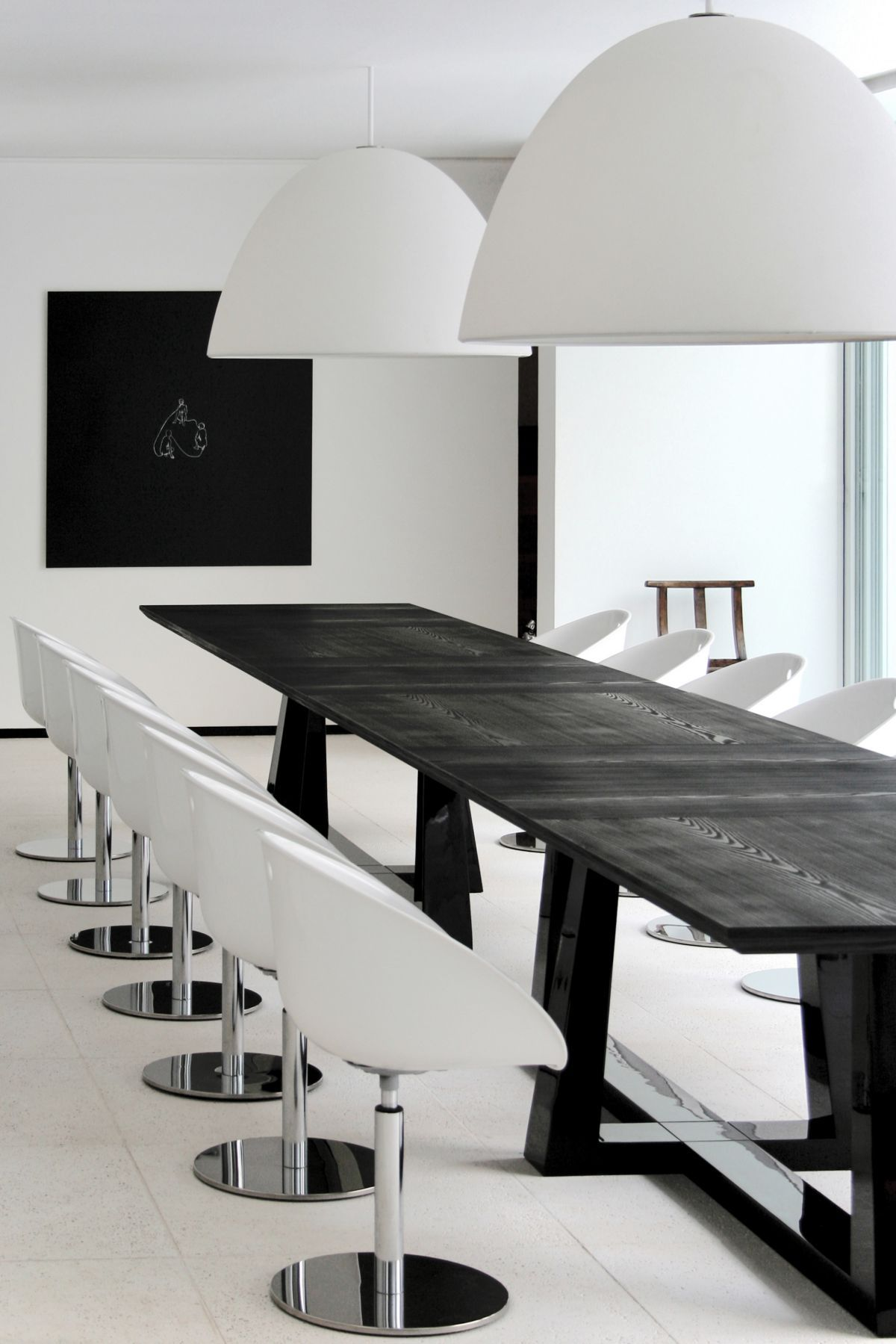 Modern Minimalist Dining Room Interior Design In Black White