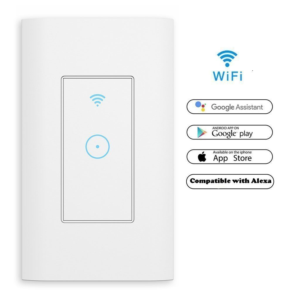 Smart WiFi Light Switch in Wall Compatible With Amazon Alexa ...