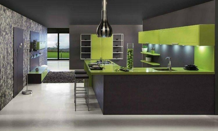 Sleek Modern Kitchens Homeadore Green Kitchen Designs Contemporary Kitchen Design Modern Kitchen Design