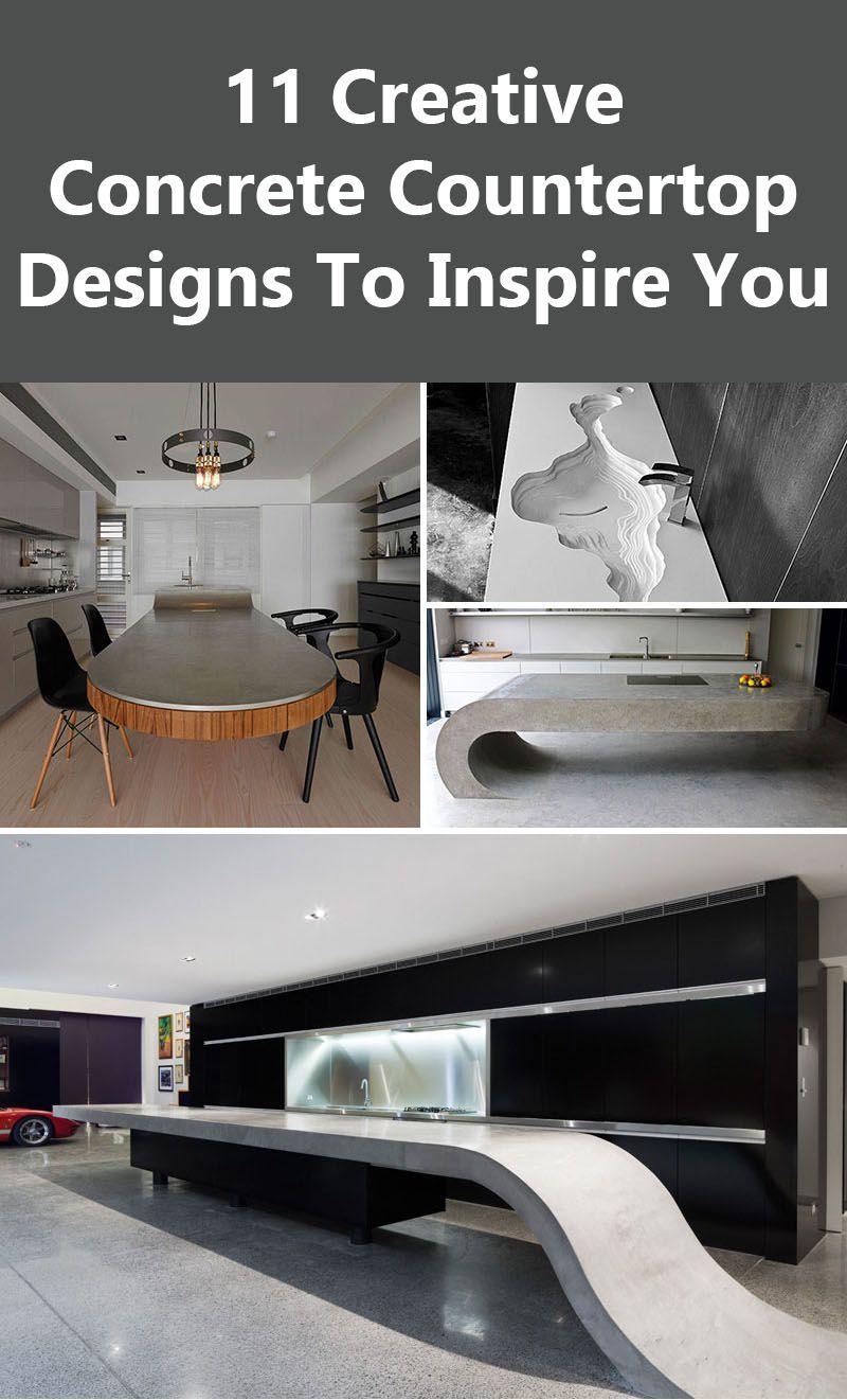 A Guide To Concrete Kitchen Countertops Remodeling 101: 11 Creative Concrete Countertop Designs To Inspire You