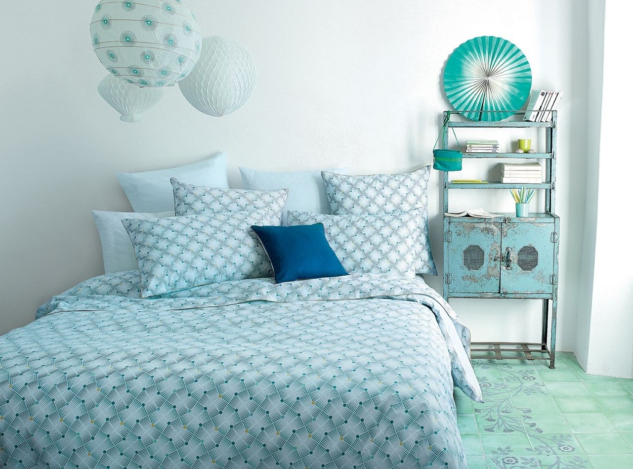 Linge de lit jalla jackson nouvelle collection jalla - Difference entre drap plat et housse de couette ...