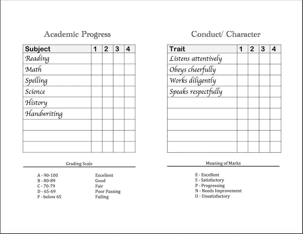 Homeschool Report Cards Tunu Redmini Co For Fake Report Card Template Best Sample Template Cartas De Navidad Cartas Tipografico