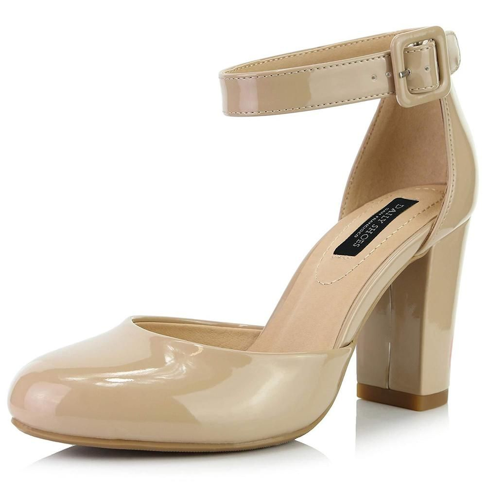 bf5e43b2109 DailyShoes Women s Chunky Heel Round Toe Ankle Strap Pumps Shoes  fashion   clothing  shoes  accessories  womensshoes  heels (ebay link)