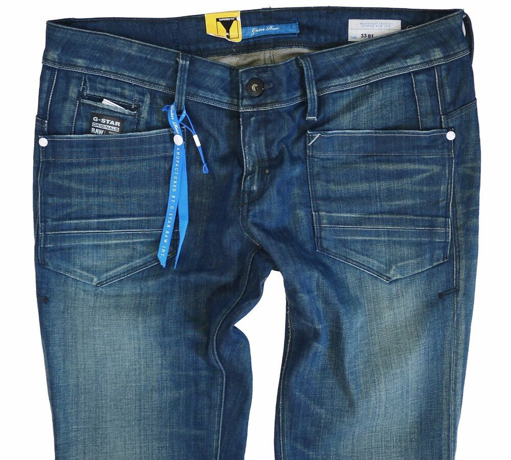 2694fba3856 G-Star Womens Jeans W-31 L-34 Low T Tapered Track Washed Denim New ...