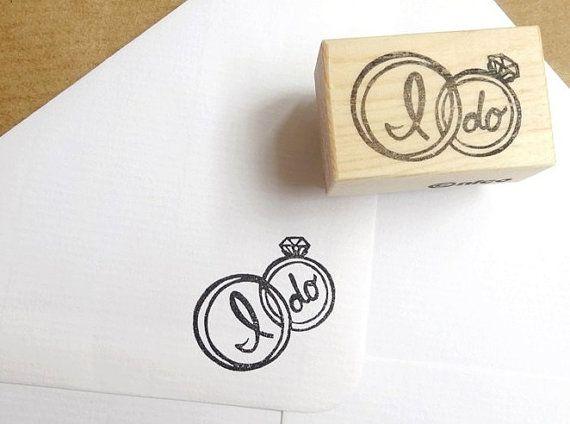 Wedding Ring Rubber stamp I Do Ring stamp Wedding Invitations