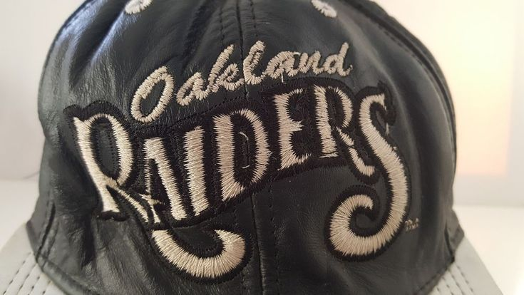 491381aee5d299 Details about Oakland Raiders NFL Football Baseball Cap Black Leather  Vintage 90s USA Made Hat - #90s #Baseball #Black #CAP #Details #football # hat #leather ...
