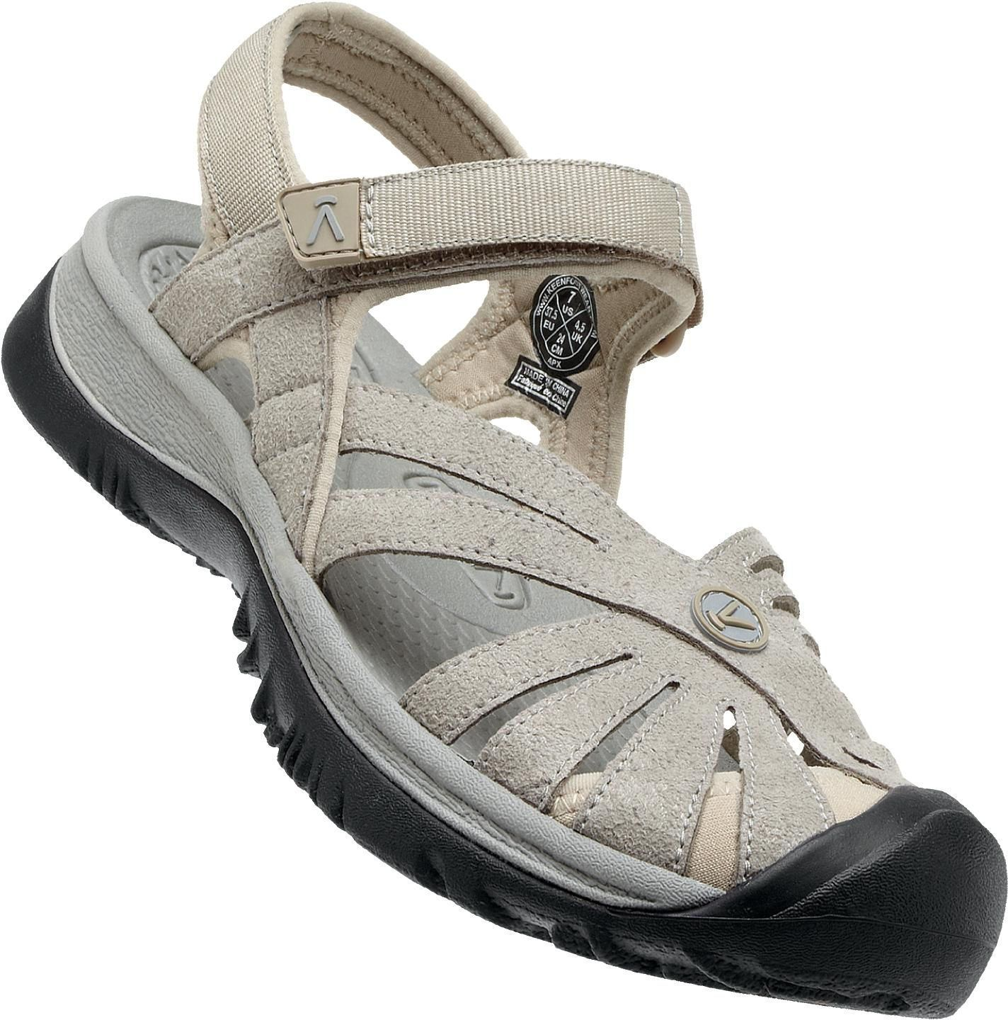 23217deb6c4 Keen Women S Rose Hook   Loop Closed Toe Sandals Aluminum Neutral Gray  1010998 Gris