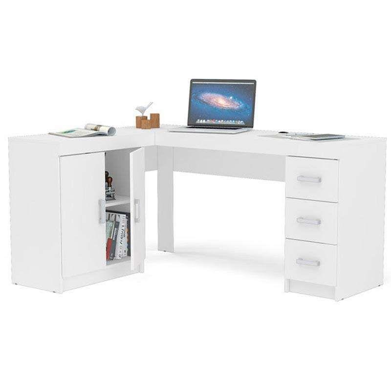Mesa Para Computador Com 2 Portas E 3 Gavetas Espanha Politorno