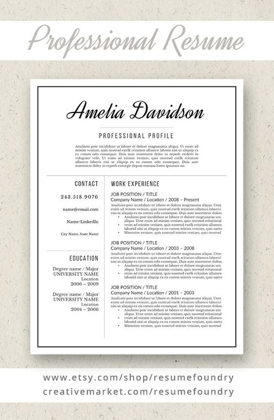 Simple resume template, use with Microsoft Word Update your - simple resume template microsoft word