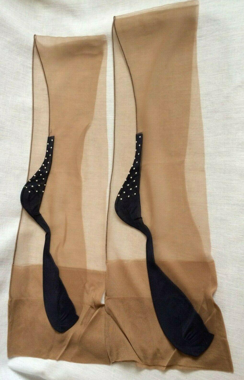 Nancies Fully Fashioned Cuban Heel Stockings