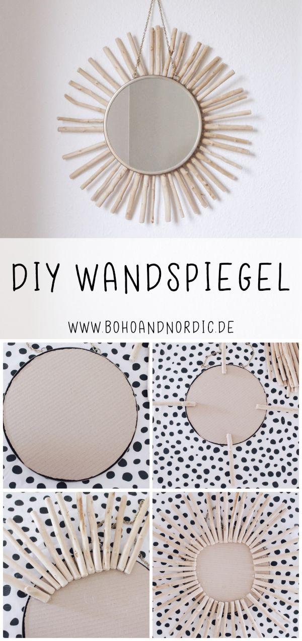 DIY Wandspiegel selber machen #selbstgemachtezimmerdeko