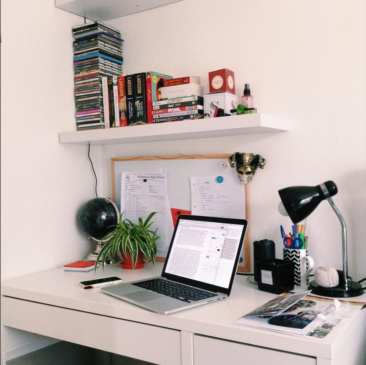 Minimalist Studyblr Workspace On The First Day Back At