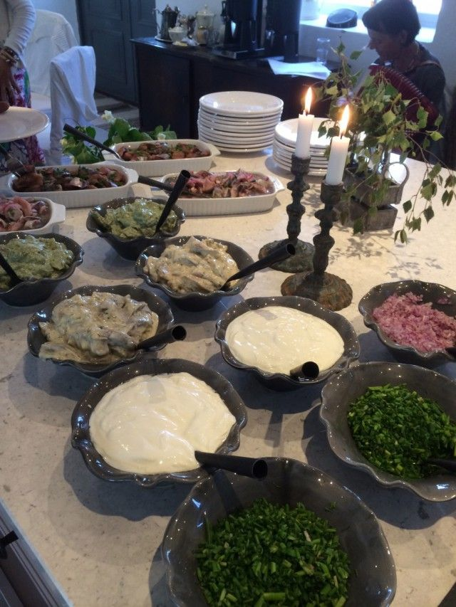Buffet from my restaurant on the island of Gotland
