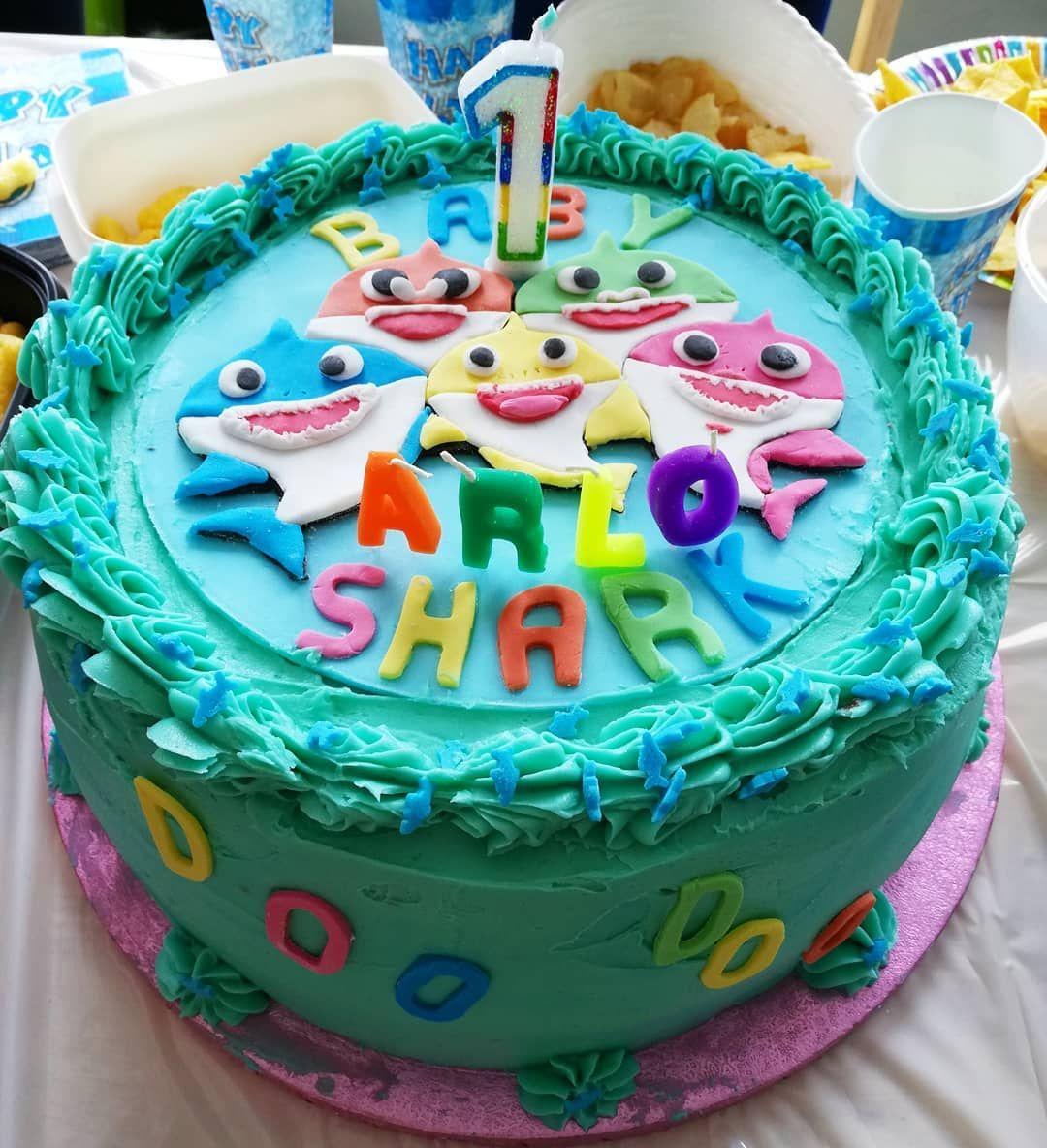 Baby Shark Cake Cake, First birthday cakes, Birthday cake