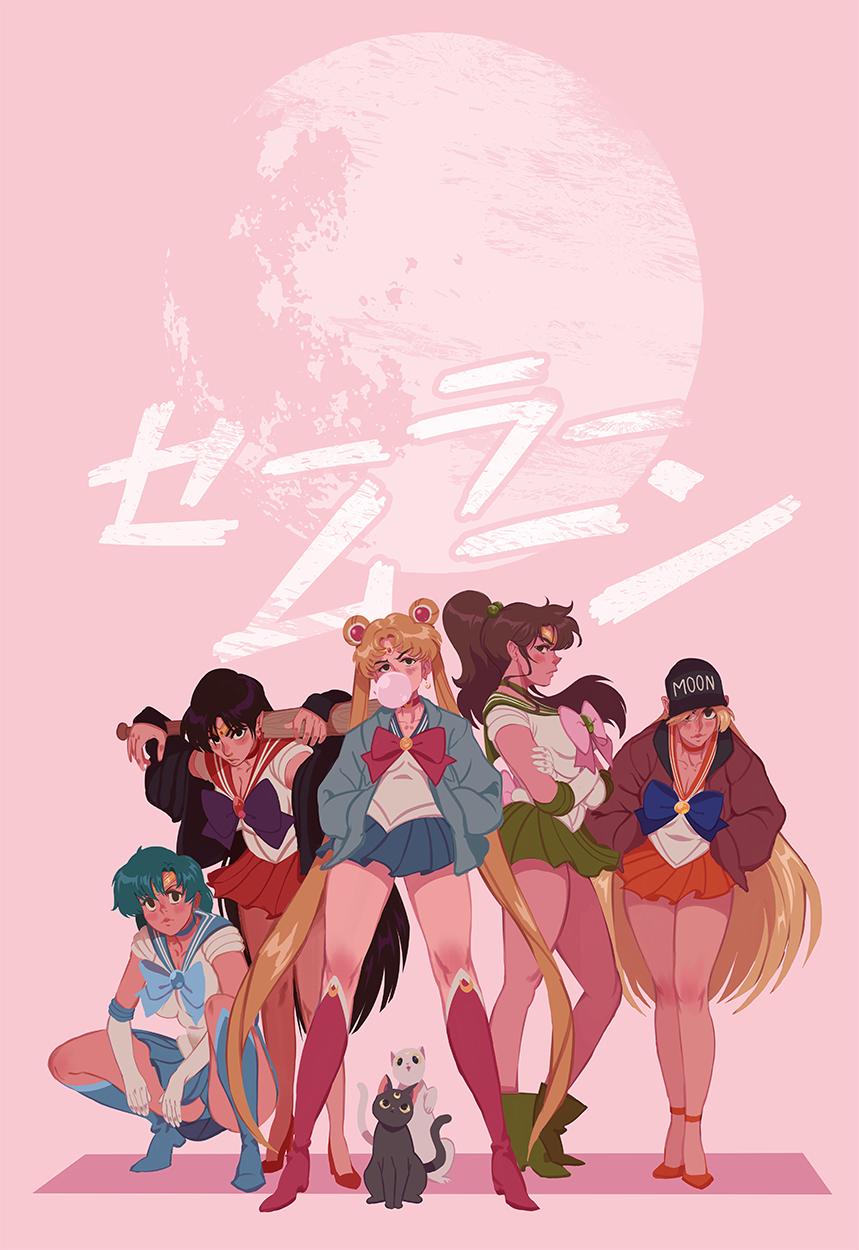 I Finally Did The Sailor Scout Street Gang Print I Ve Always Been Telling Myself I D Do Super Happy With Out It Turn Sailor Moon Art Sailor Scouts Sailor Moon