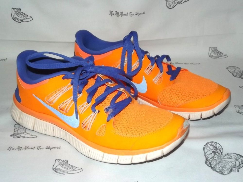 1a0e3b8593e8 NIKE Free 5.0 Bright Citrus Violet Running Sneakers Womens Size 8  fashion   clothing