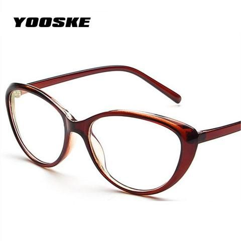 61b1e45ee112 YOOSKE Vintage Fashion Men Women Cat Eye Eyeglasses Frame Anti-fatigue  Foggles Spectaclemodlilj