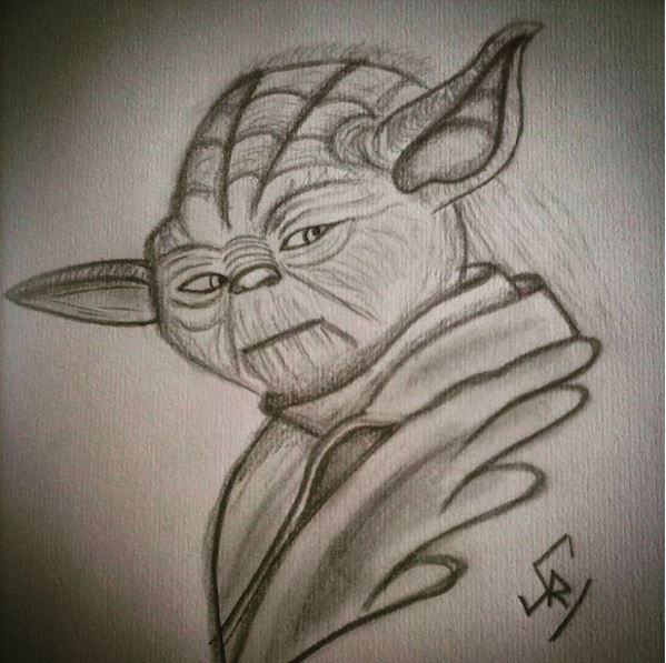 Star Wars fanart of Yoda by @saraag88