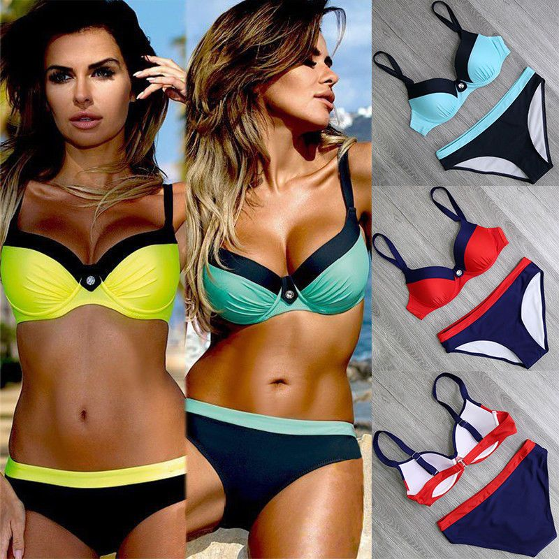 2e33593d58d9a Plus Size Womens Triangle Bikini Set Push-up Padded Top Bottom Swimsuit  Swimwear  fashion  clothing  shoes  accessories  womensclothing  swimwear   ad (ebay ...