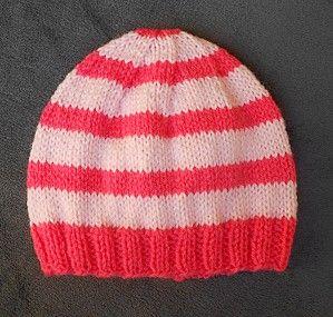 tuto bonnet naissance au tricot   TRICOTS   Tricot, Bonnet et Bonnet ... 66e1714da07