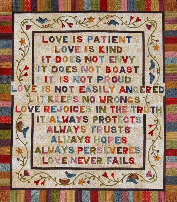 Wedding Reading Love Is Patient: Love Is Patient, Love Is Kind . . . QUILT