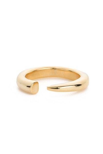 Anine Bing   Gold Horn Ring