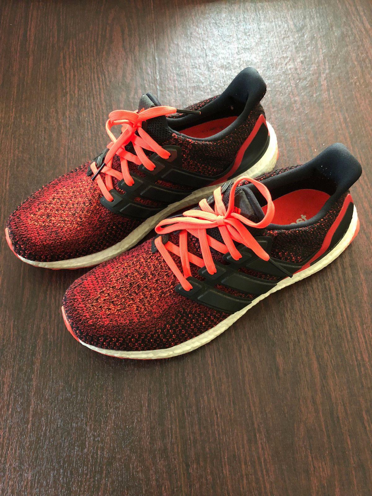 8392059af607d Adidas Ultra Boost 2.0 Solar Red Core Black AQ5930 US Size 10.5 Ultraboost