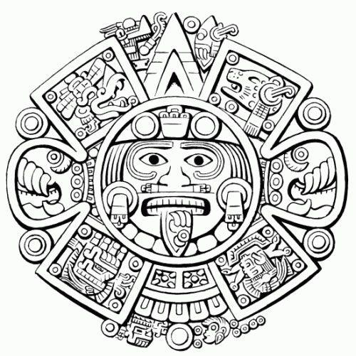 Indigena Azteca Dibujo