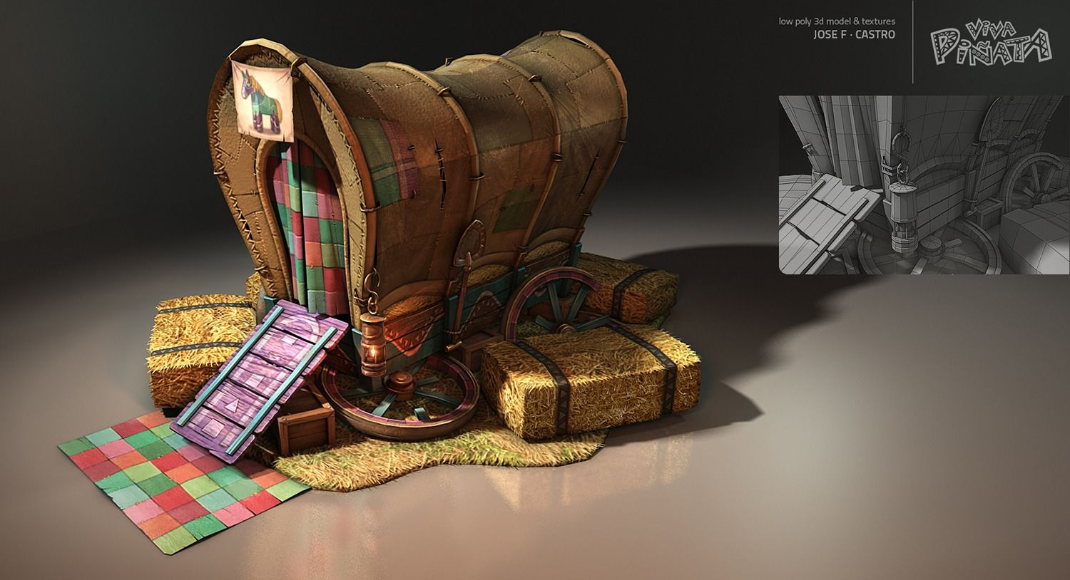 Viva Pinata - Horse Home Picture  (3d, architecture, game art, wild west)