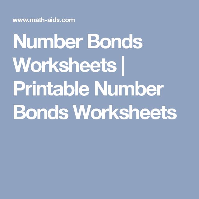 Number Bonds Worksheets | Printable Number Bonds Worksheets | MATH ...