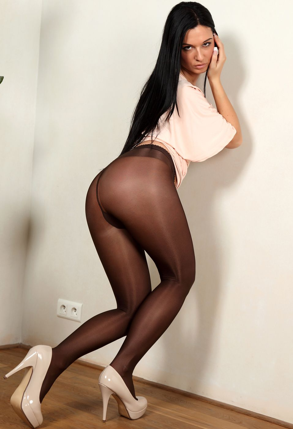 Slutload black pantyhose, columbia sex fuck