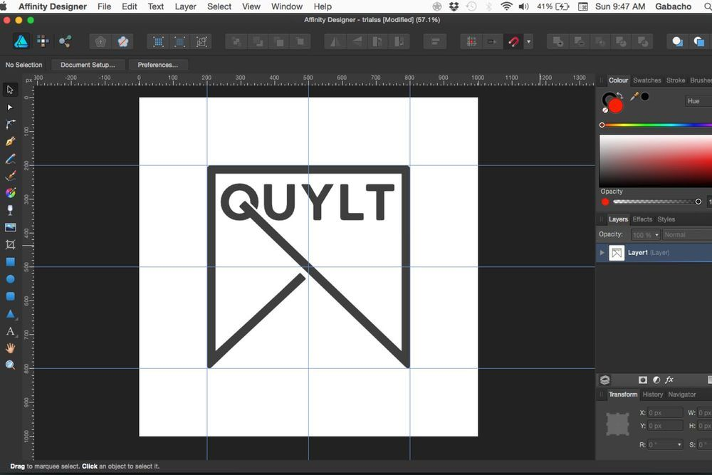 TUTORIAL Designing the QUYLT Logo in AFFINITY DESIGNER