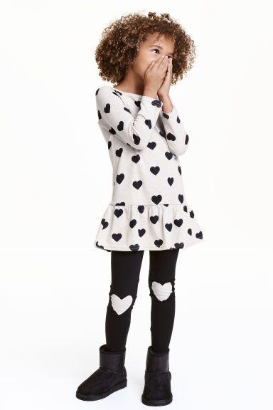 b23536a80f7d1 Jersey dress and leggings | Zara | Dresses with leggings, Fashion ...