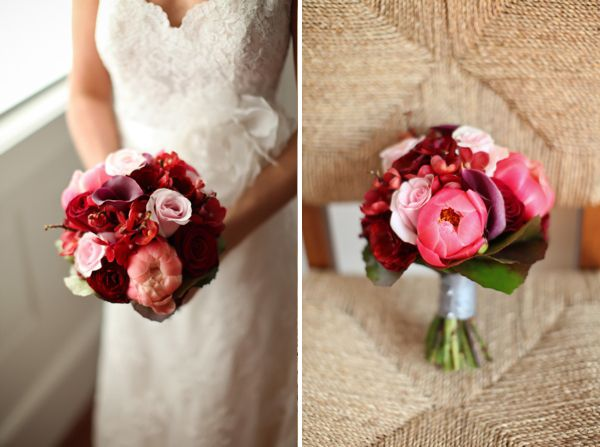 Bold Pink And Deep Red Bouquet Bridesmaid Maybe Maid Of Honor