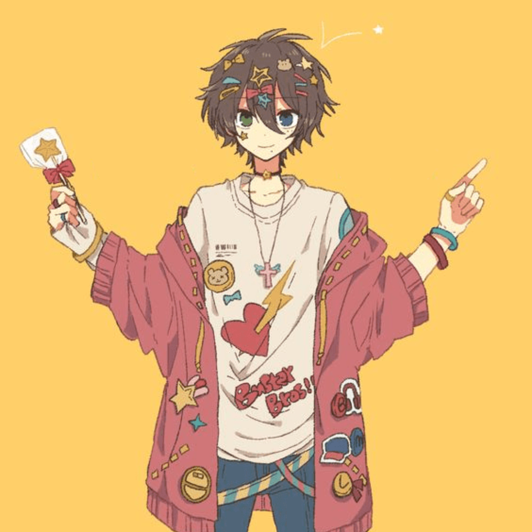 White, Yellow, Red, Free Image Anime, Anime boy, Cute