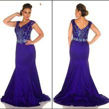 Shinning Perlen Kristalle Prom Kleider 2016 Flügelärmeln V-ausschnitt Lange Dark Purple Prom Kleid Plus Größe Reizvolle Abend-partei-kleider PL20 //Price: $US $153.80 & FREE Shipping //     #abendkleider