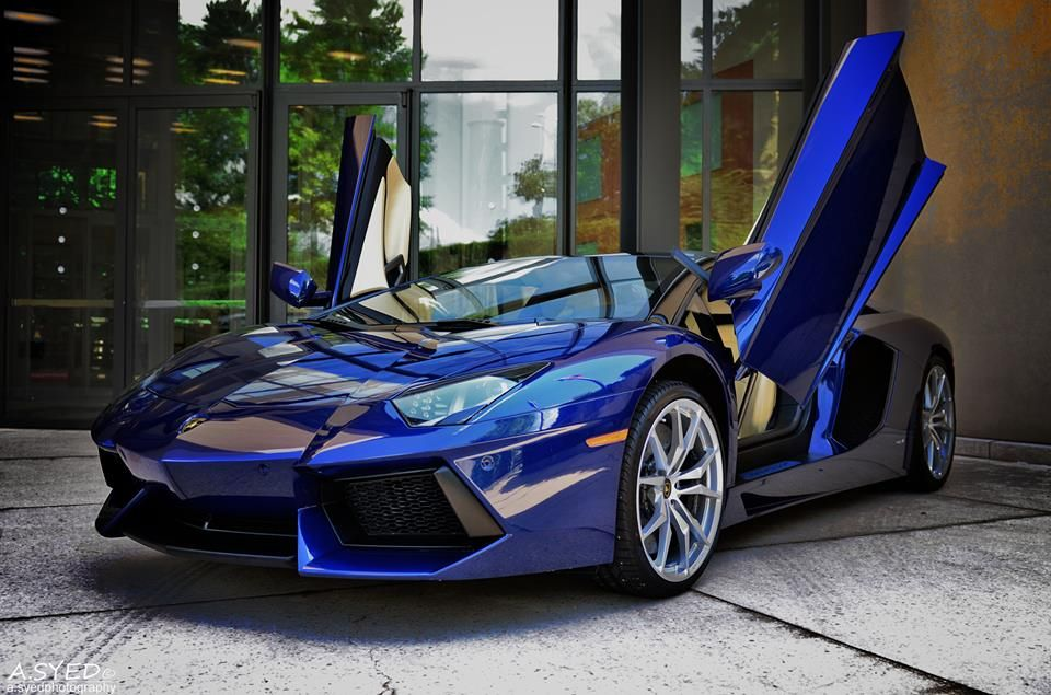 Royal Blue Lamborghini Aventador Roadster Just When I Thought This Car  Couldnu0027t Get Anymore Evil And Sexy.
