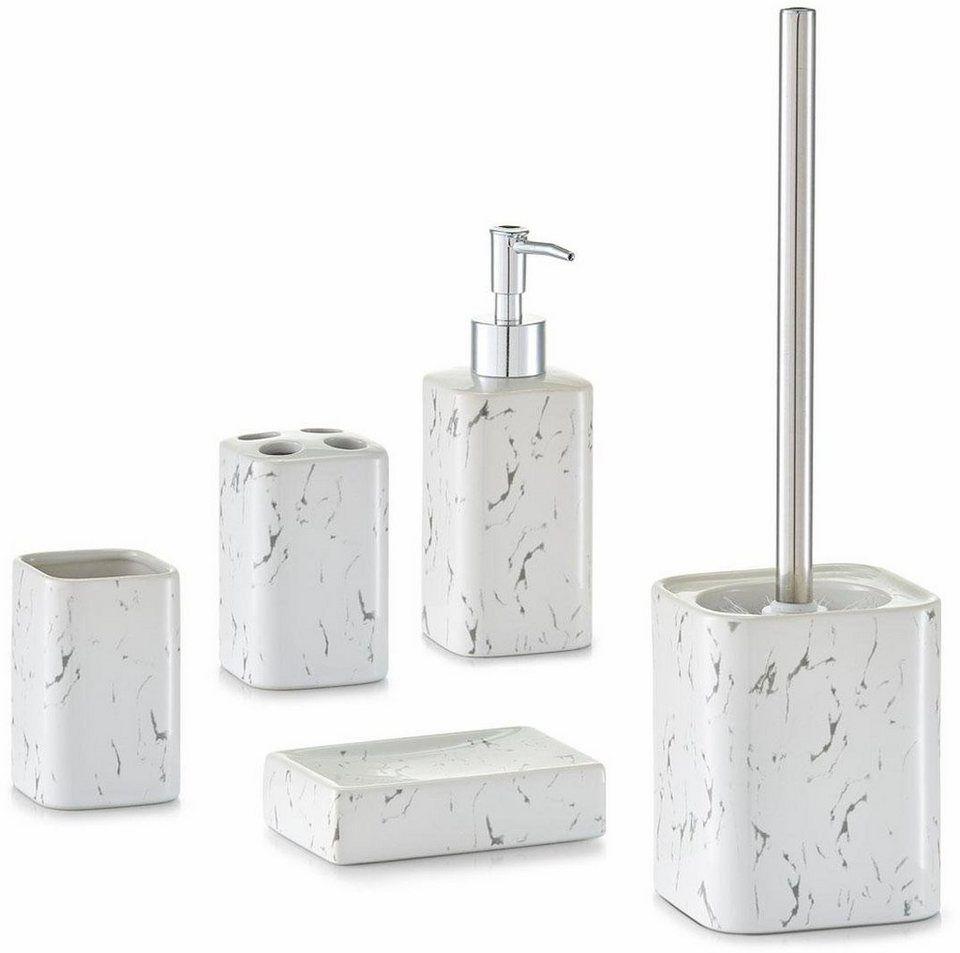 Home affaire Bad-Accessoires-Set »Marmor« (5-tlg.) | Bad accessoires ...
