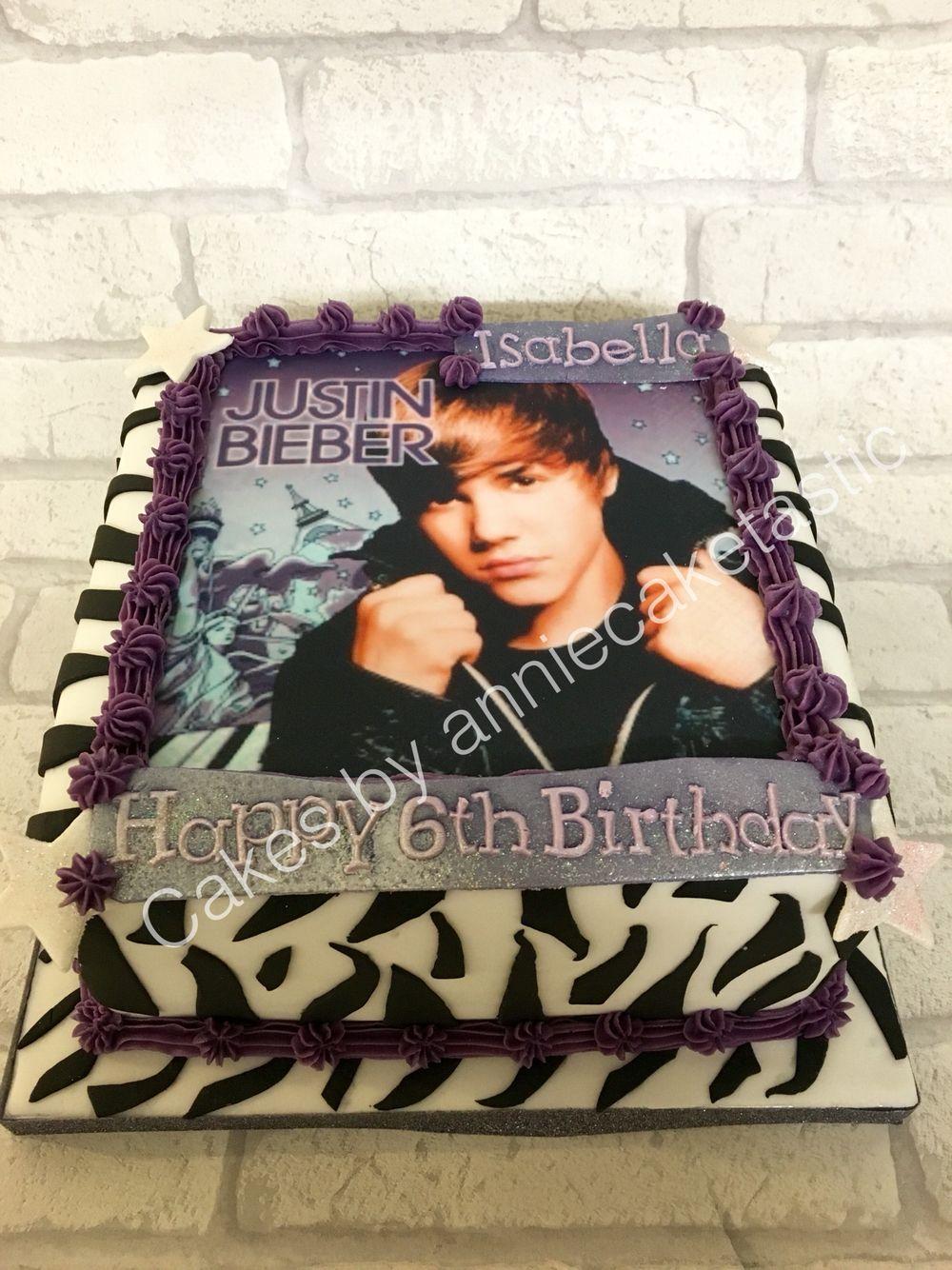 Justin bieber scrapbook ideas - Justin Bieber Birthday Cake