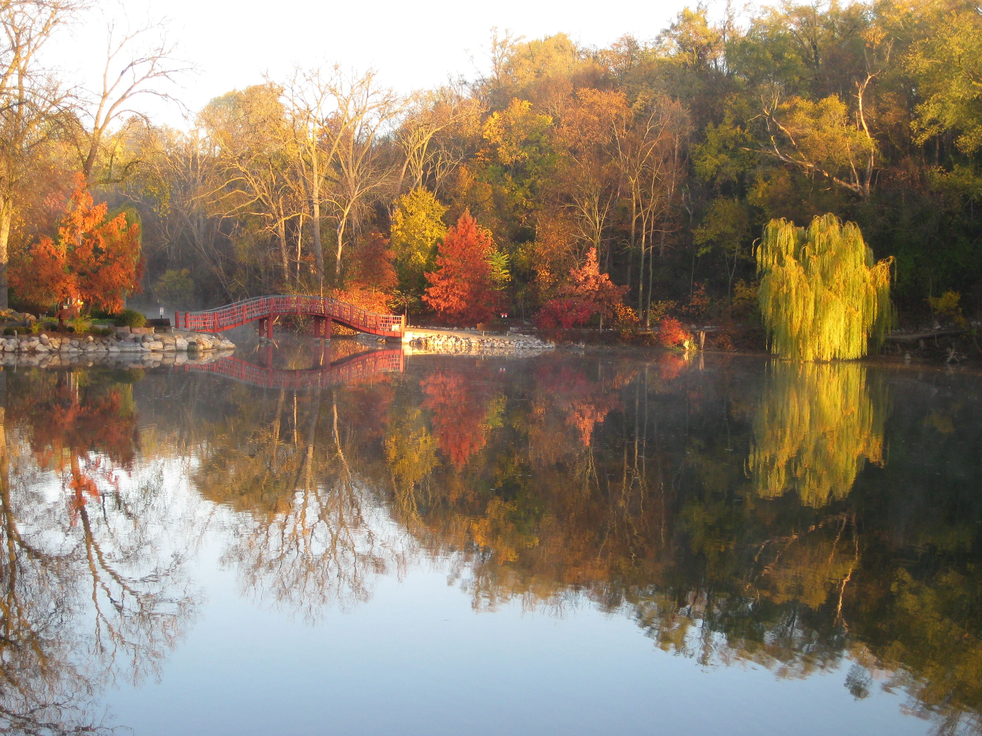 Overlooking the pond at Rotary Botanical Gardens. | Fall Color ...