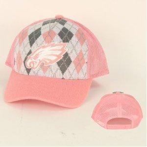 3be4f539262 Free Ship NFL Eagles Argyle Trucker Baseball Cap - Pink By Reebok ...