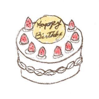 バースデーケーキのイラスト 苺のシートケーキ 無料で使える 誕生日のフリー素材 商用利用 加工可 Happy Birthday Project 誕生日 カード イラスト 誕生日 背景 誕生日 素材