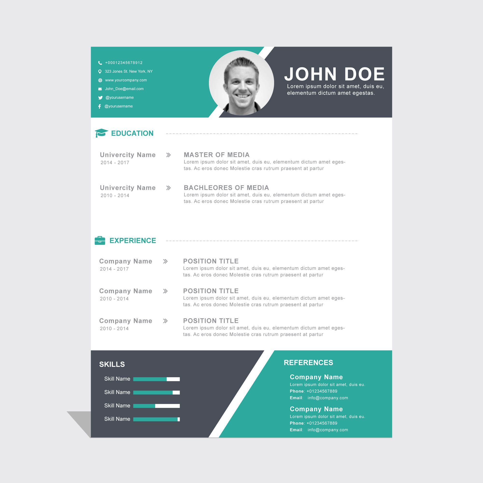 10 Cool Resumes Made By Professional Graphic Designers Resume