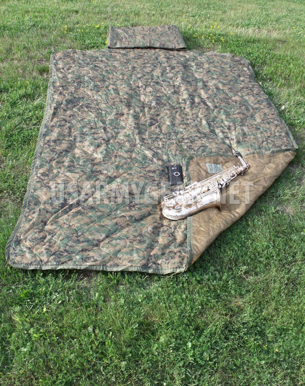 Army Usmc Marine Corps Issue Digital Woodland Blanket Poncho Liner Us Gear